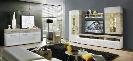 Obývací stěna SAVONA + sideboard_v interieru_obr. 1