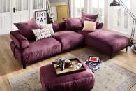Sedací souprava SENTO_sestava 3AL-LAR_v látce Velvet purple_obr. 1