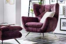 Křeslo SUSSEX v látce Velvet purple