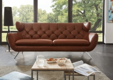 Sofa SIXTY 3ALR v látce Nature brown