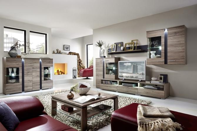 SPOT - obývací stěna + highboard
