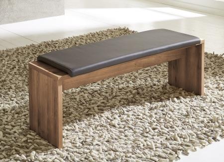 Jídelní lavice 29 26 CC 03_akácie imitace_sedací polštář v černé imitaci kůže_obr. 4