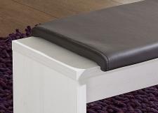 Jídelní lavice 29 26 UU 03_pinie světlá imitace_sedací polštář v šedé imitaci kůže_detail_obr. 5