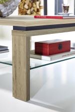 Konferenční stolek 29 11 HH 02_dub San remo světlý melamin_břidlice MDF_detail