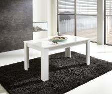 Rozkládací jídelní stůl typ 29 11 WO 01 (160 cm, nerozložený), bílý melamin v kombinaci s antrazit struktur MDF_obr. 3