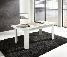 Rozkládací jídelní stůl typ 29 11 WW 01 (rozložený na 200 cm), bílý melamin v kombinaci s dub Sonoma světlý MDF_obr. 2
