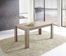 Rozkládací jídelní stůl typ 29 11 ZZ 01 (160 cm, nerozložený), dub San Remo tmavý melamin v kombinaci s břidlice MDF_obr. 3