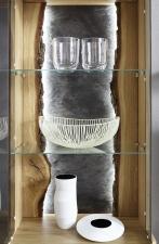 Obývací nábytek TEZANO_detail zadní stěny vitriny_obr. 2