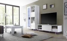 Obývací nábytek TORINO_vitrina_TV element_konf. stolek, nohy z akrylového skla_obr. 43