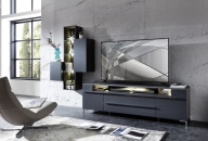 TV-lowboard TREND 10 D2 GG 30 + závěsné elementy 10 + 11 + 12 + nohy 99 03 00 99_obr. 1